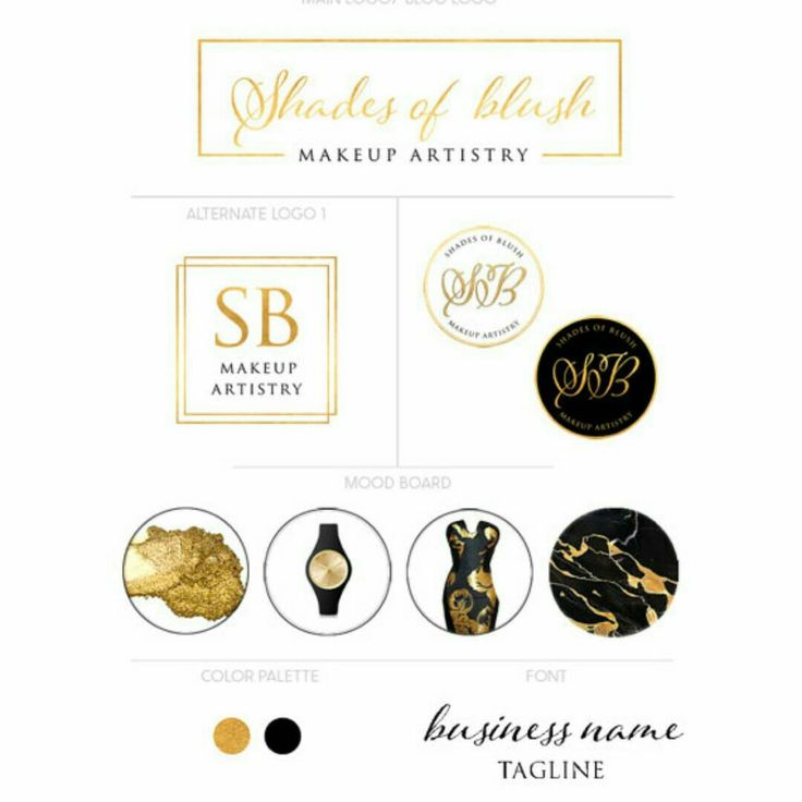 Black and gold luxury branding kit