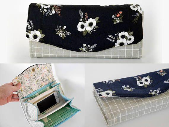 Floral clutch bag Necessary clutch wallet black clutch bag