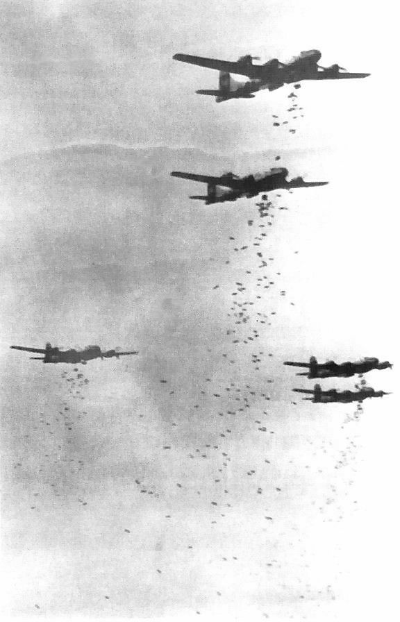 B-29s over Japan in World War II.