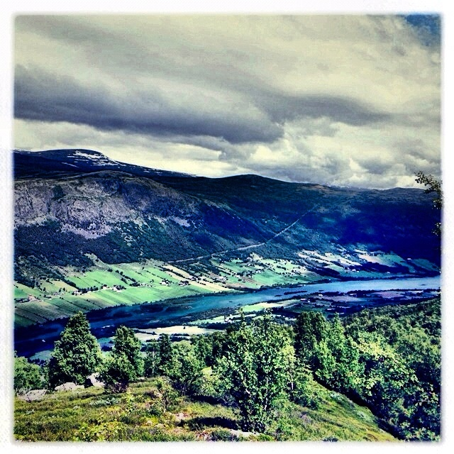 Skjåk seen from above. Mountain hiking @ Skjåk, Norway