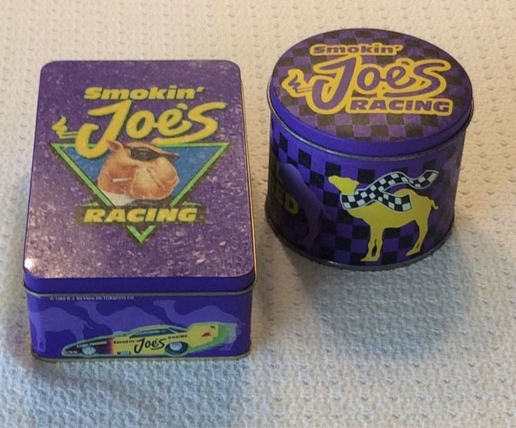 Camel Smokin' Joes Racing Collector Tins W/Matches & Lighter