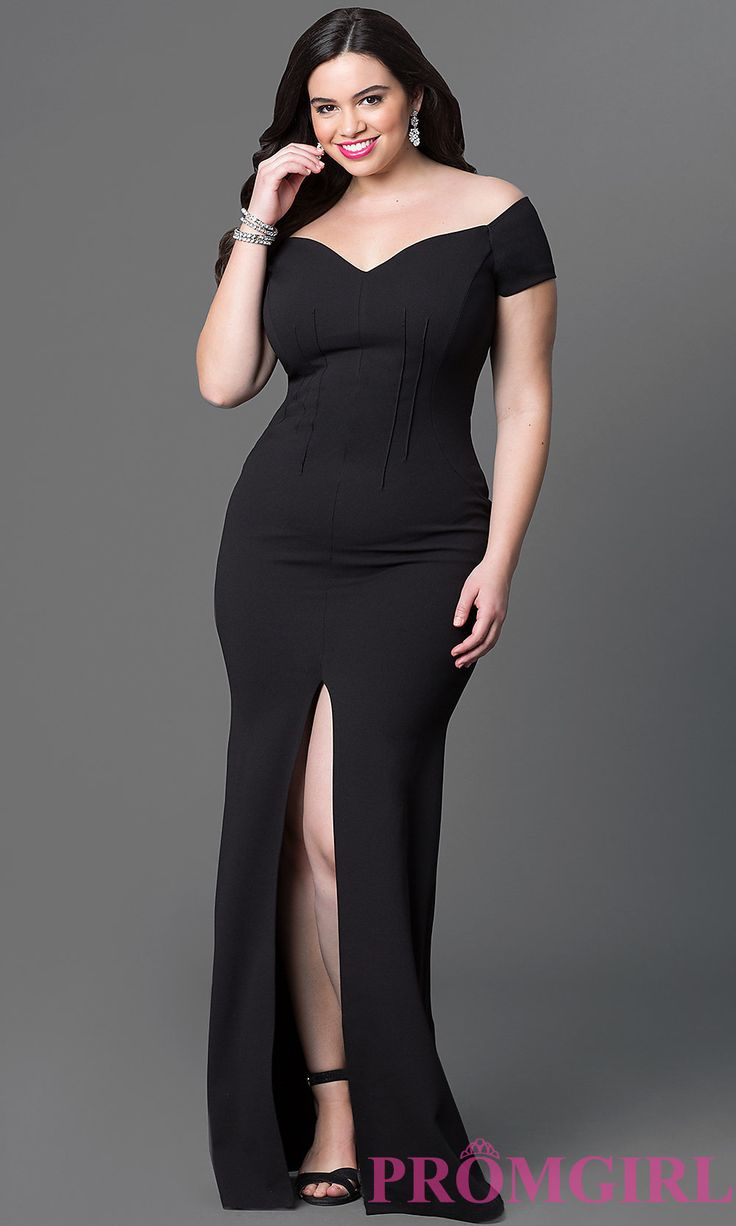 Image Of Off The Shoulder Floor Length Prom Dress Front