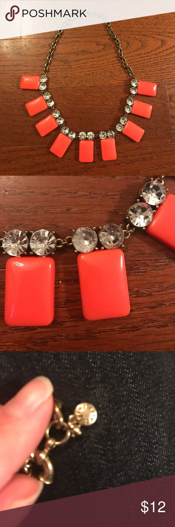 J Crew Factory Necklace J Crew Factory Orange Tile Necklace.  Excellent used condition and worn only a couple of times. J. Crew Factory Jewelry Necklaces