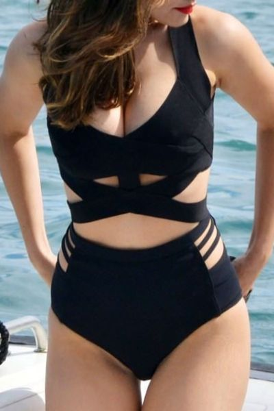 Black Strappy and Cut-Out