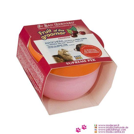 Guinda Máscara para Perros con Pelo Corto - Máscara vigorizante reparadora con proteinas de la seda: Esto balsamo es Hidratante, Tonificante y nutritivo para perros con Pelo Corto