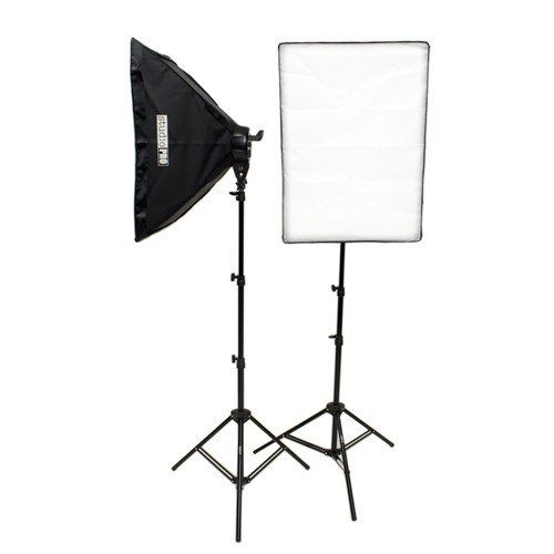 StudioPRO's 2000W Double 5 Socket Fluorescent Softbox Kit would be a wonderful addition to your studio. Our Fluorescent 5 Socket Light Head mounts onto most standard light stands and gives you control