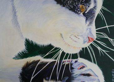 """Otto 2"" Acrylic on watercolour paper"
