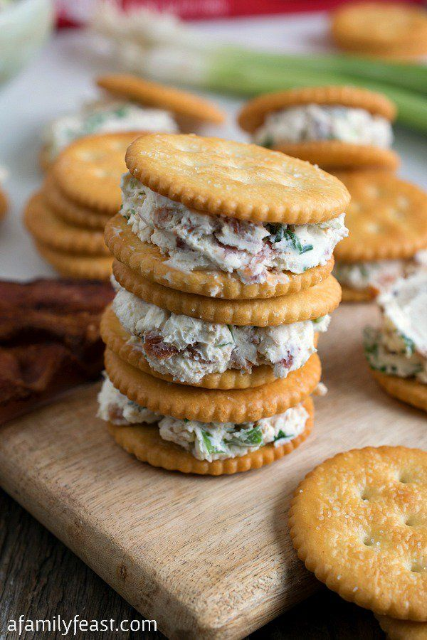 Cream Cheese, Scallion and Bacon RITZwich - Easy and delicious! #StackItUp!
