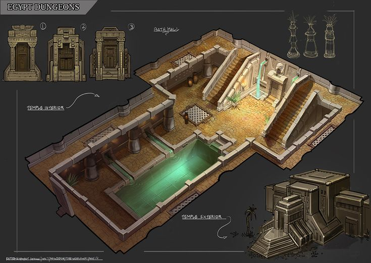 ArtStation - Egypt Dungeons Temple, Tore Wesolowski