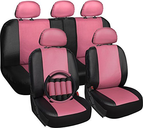 OxGord 17pc Set Faux Leather / Pink & Black Auto Seat Covers Set - Airbag Compatible - Universal Fit for Car, Truck, or SUV - Includes Steering Wheel Cover - http://www.caraccessoriesonlinemarket.com/oxgord-17pc-set-faux-leather-pink-black-auto-seat-covers-set-airbag-compatible-universal-fit-for-car-truck-or-suv-includes-steering-wheel-cover/  #17Pc, #Airbag, #AUTO, #Black, #Compatible, #Cover, #Covers, #Faux, #Includes, #Leather, #OxGord, #Pink, #Seat, #Steering, #Truc