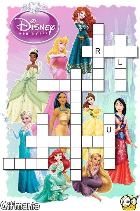 disney princess crosswords disney disneyprincess activities gifig pins pinterest activities - Disney Princess Activities