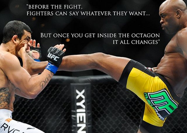 Anderson Silva , best ufc fighter ever , inspires me to become better and never give up .