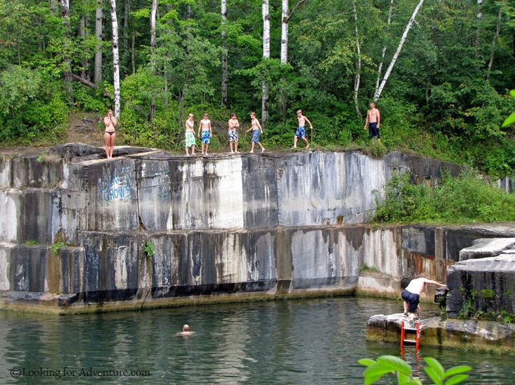 Dive in! Kids of all ages enjoy this quarry in Dorset.