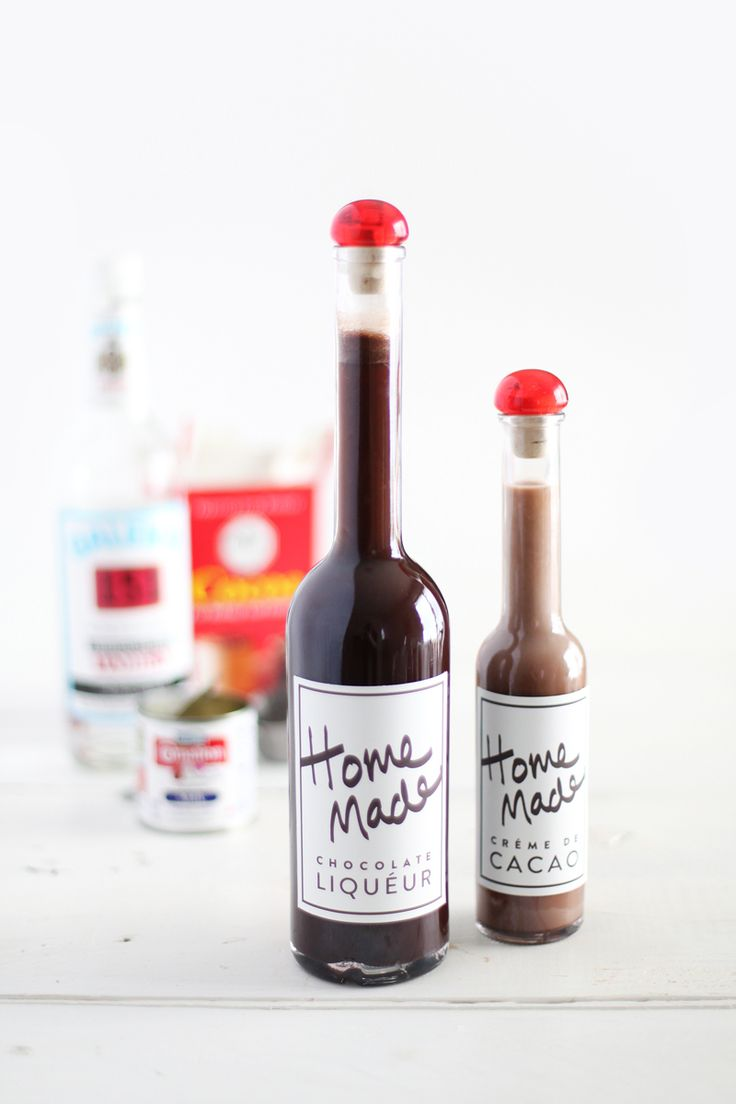 wild? How about whipping up some of this #DIY chocolate liqueur ...