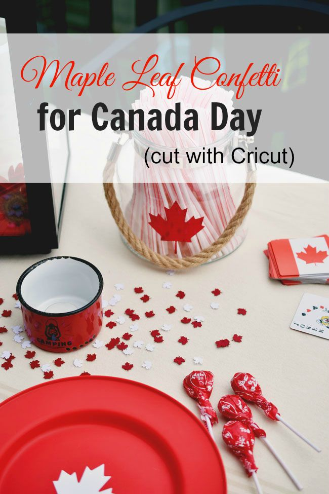 Find out how to cut this adorable maple leaf confetti for Canada Day.