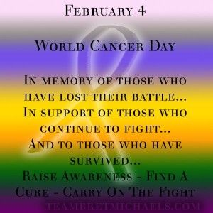 World cancer day quote images