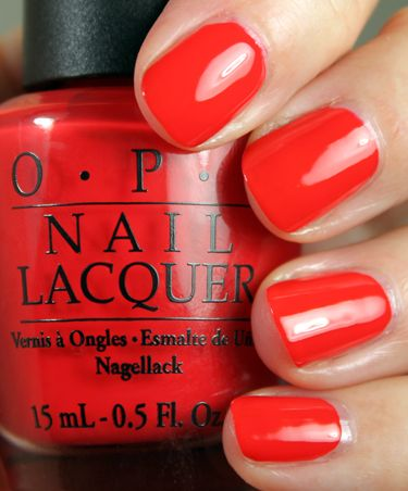 OPI Red My Fortune Cookie--my absolute favorite bright red-orange. Its perfect for spring and it matches my skin tone!