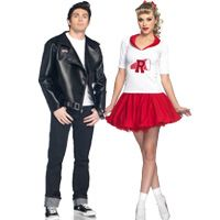 This might be mine and John's costume this year?Grease Couples Costumes