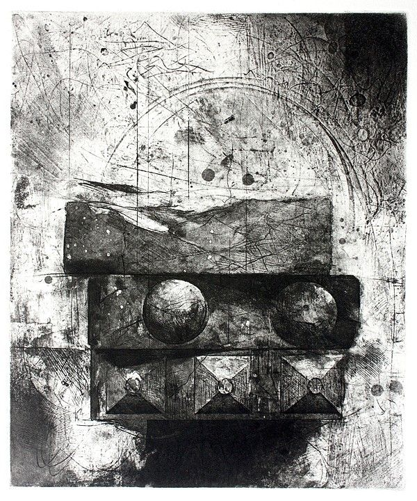 Jake Muirhead, 'Bricks', etching and aquatint