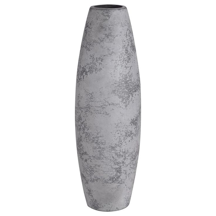 Cement-Look Table Vase