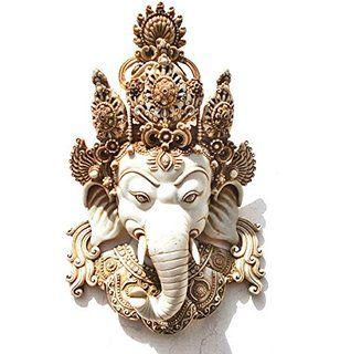 Amazon.com - Ganesh Wall Mask, Himalayan Vintage Style Ganesha ...