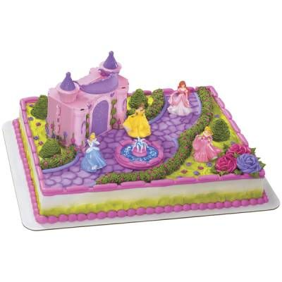 Food & Entertaining - Publix Bakery Selections - Decorated Cakes - Princess - Disney Princess Castle Simple Signature Cake