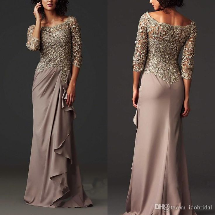 Zuhair Murad Evening Dresses 2015 Lace Sheer Mother Of The Bride/Groom Dresses Formal Arabic Evening Gowns With 3/4 Sleeves Mother Bridal Dresses Mother In Law Dresses For Wedding From Weddingpalace, $100.53  Dhgate.Com