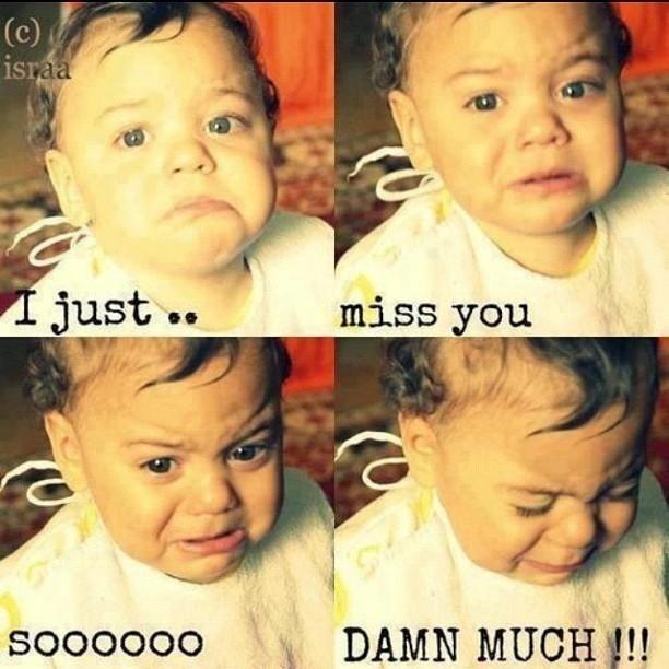 I Miss You Meme Funny
