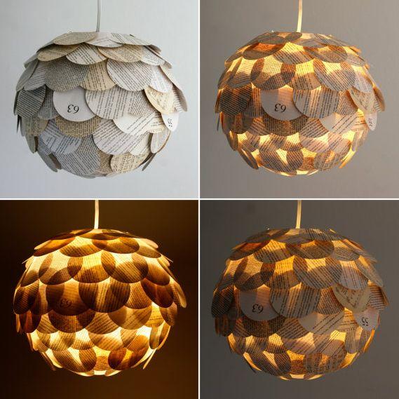 Jag gillar Etsy . Där finns så mycket härlig inspiration att finna. Den här vackra lampan, som är gjord av papper hittar du hos skapare...