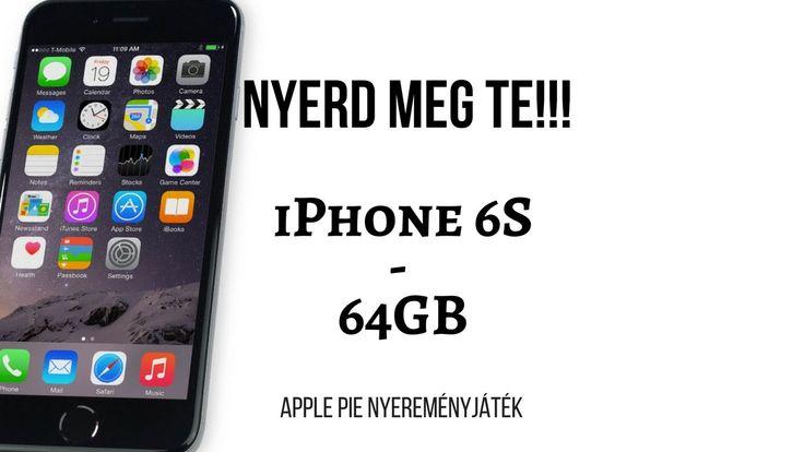 Elajándékozok egy iPhone 6S-t!