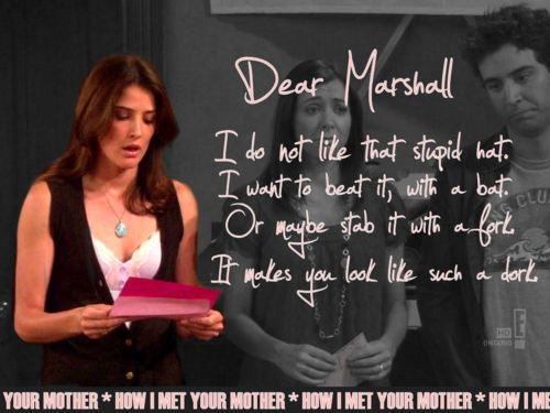hahaha one of my top 5 HIMYM moments. Would love my own intervention banner.