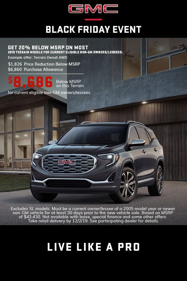 Explore Gmc Terrain Black Friday Offers Lease Deals Gmc Gmc Vehicles