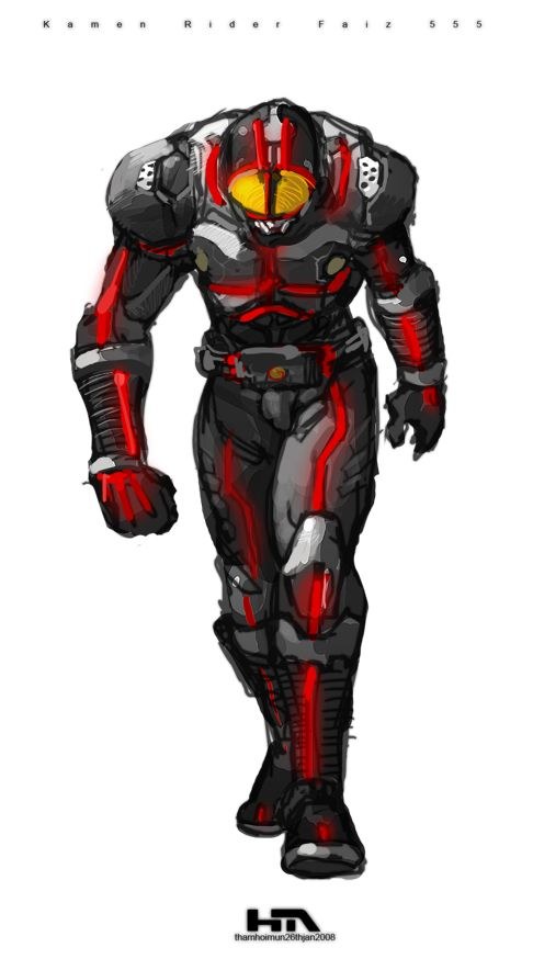 Kamen Rider 555 Faiz by ~NuMioH on deviantART