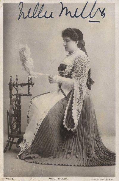 NELLIE MELBA Autographed Photograph - Classical / Opera Singer - preprint