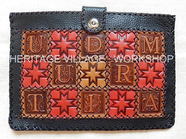 """Кожаный сувенирный футляр ручной работы для планшетного компьютера - """" Удмуртия """" . Handmade leather case for Tablet computer - """" Udmurtia """" . #udmurtia , #удмуртия , #Udmurcja , #handmade , #case ,  #футляр , #чехол , #izhevsk  , #russia"""