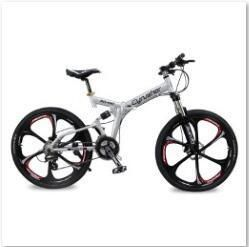 RD100 | Full Suspension | 24 Speeds | Folding Mens Mountain Bike | 17 inch in Aluminium Frame | Disc Brakes