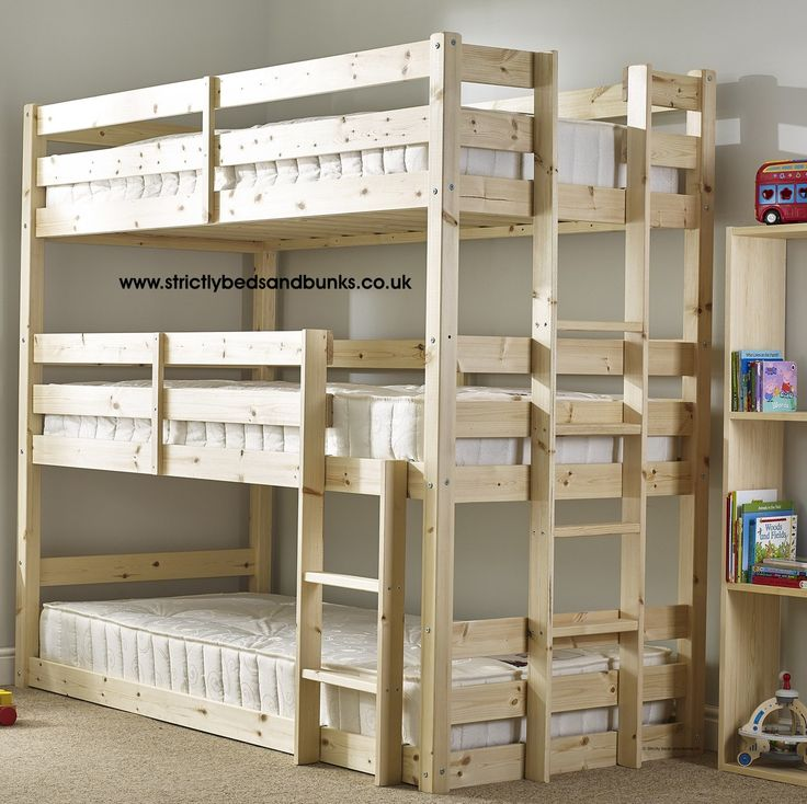 Pandora 3 tier triple sleeper pine bunk bed