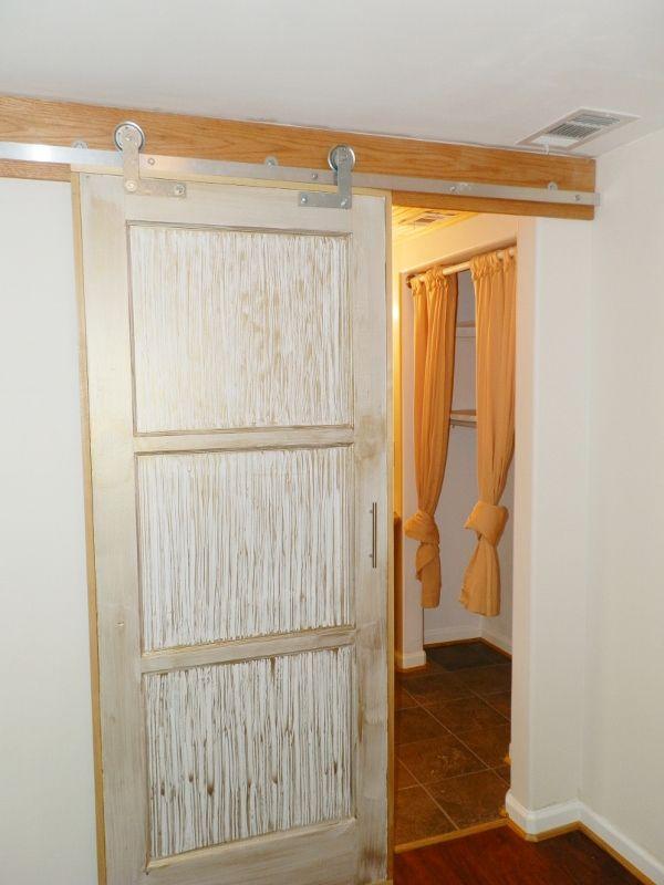 sliding barn door  i like this idea for a closet door