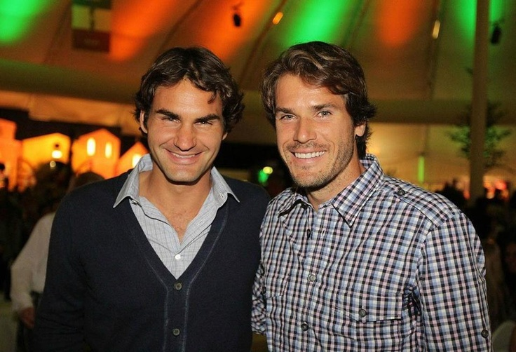 Roger Federer and Tommy Haas.