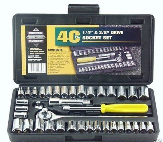 STANLEY RATCHET 3 Tool Compact STORAGE CASE SAE Metric NEW 19 Socket