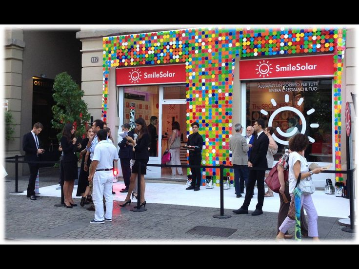 Smilesolar temporary  shop Milano