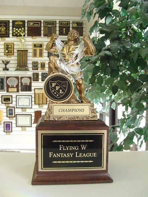 FANTASY FOOTBALL INDIVIDUAL TROPHY FFL MONSTER NEW! #Unbranded
