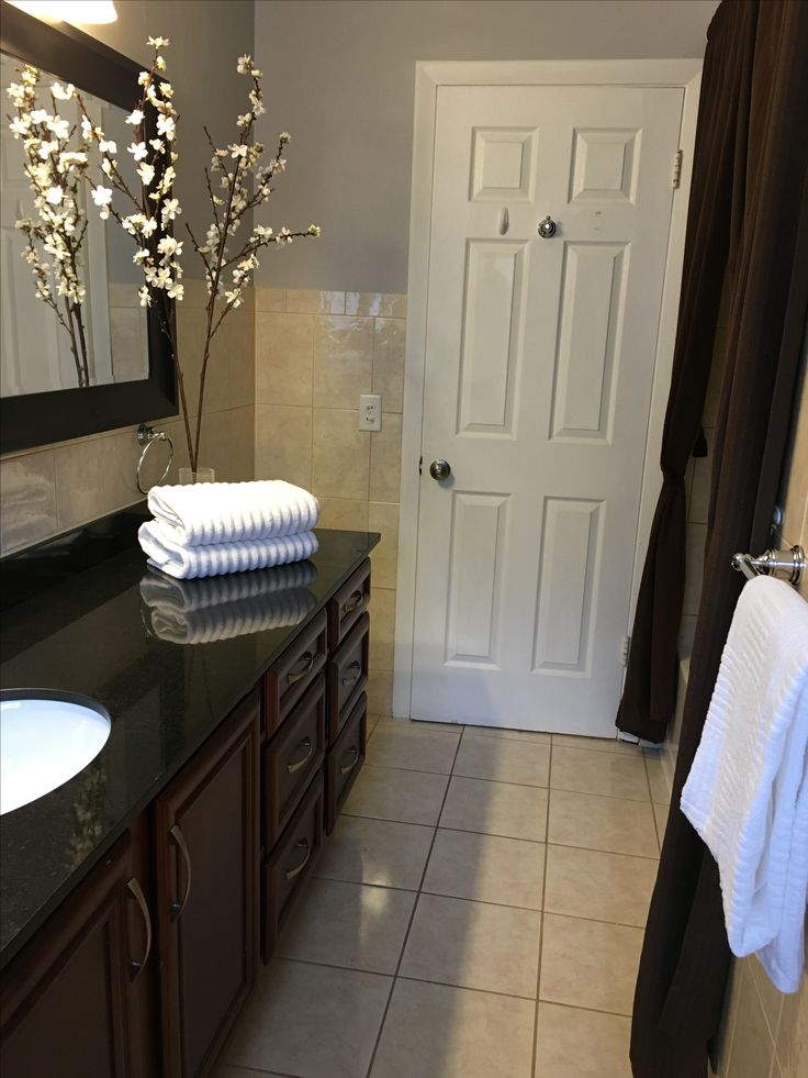 Bathroom Makeover For Staging A House To Sell. More
