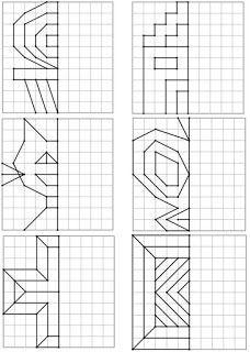 Géométrie : Symétrie cycle 2 cycle 3 | Géométrie cycle 3, Exercice géométrie ce2, Géométrie ce2
