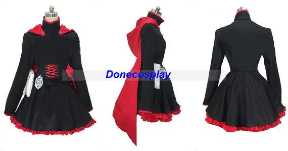 RWBY-Red Trailer Ruby Anime Cosplay Costume by Donecosplay on Etsy