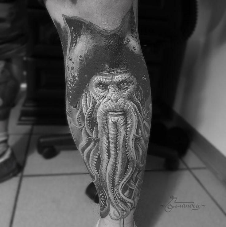 Pirate david jones tattoo by Gollandets Art