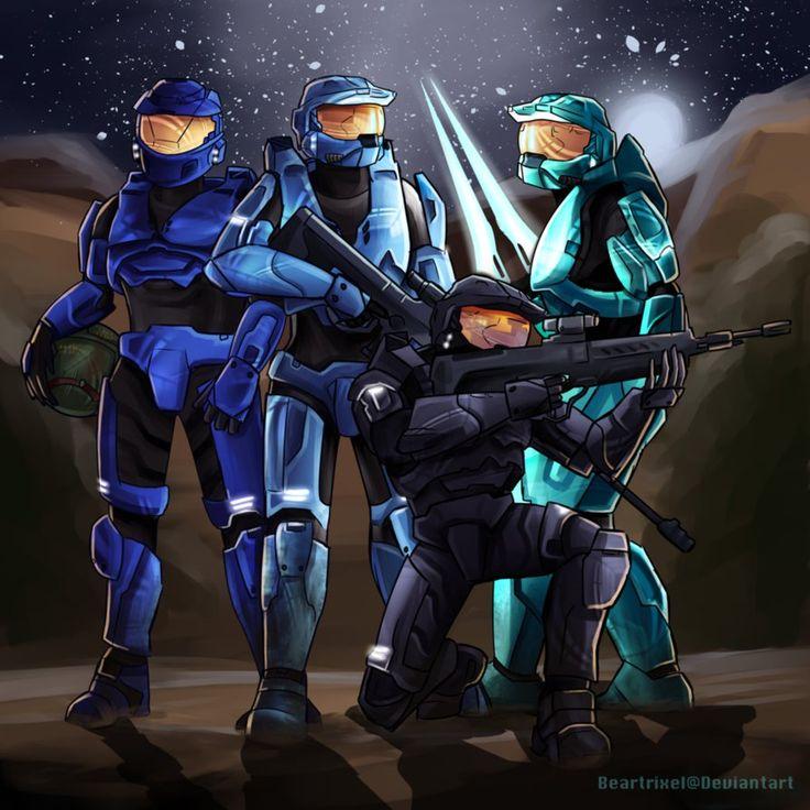 Blue Team by Beartrixel