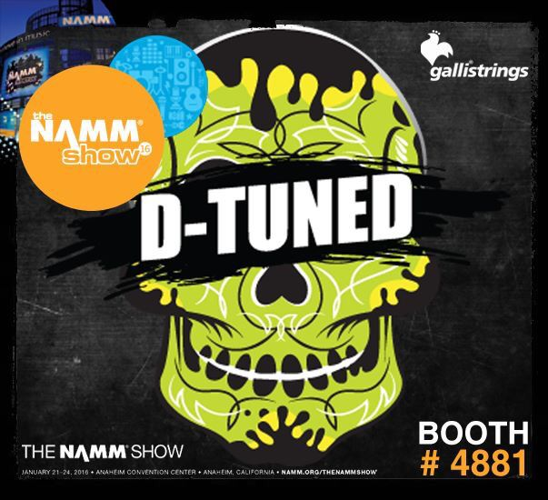 The NAMM Show, January 21-24, 2016, Anaheim, CA The NAMM Show Hall C - Booth #4881 The NAMM Show                                     D-Tuned Designed for guitarists that use #drop tuning, the #DTuned series are the heaviest #Strings you willever play!!! #gallistrings #electric #guitar #strings #dtuned #NAMM16 @nammorg