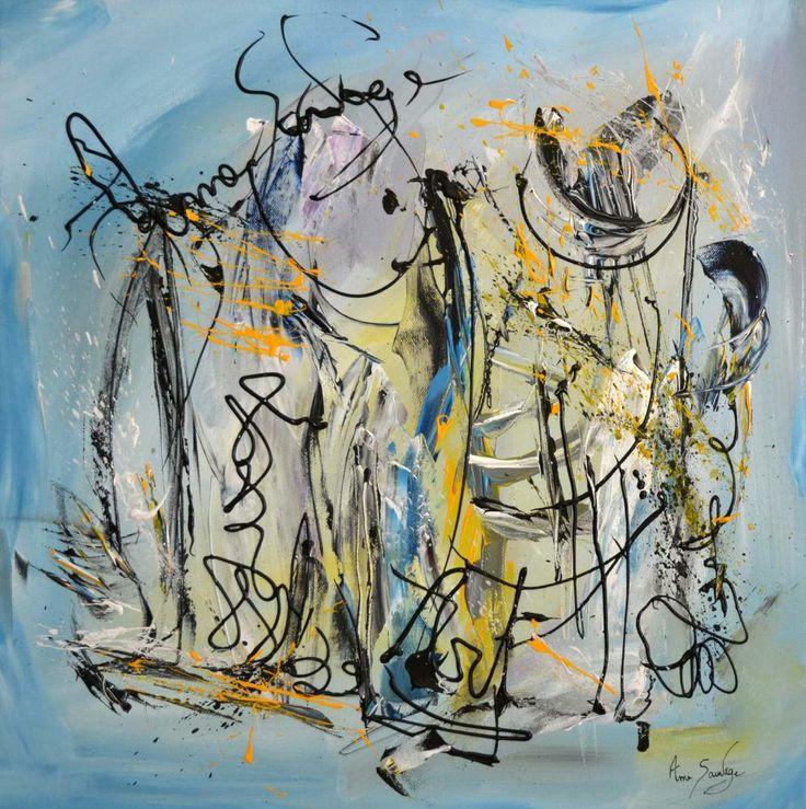 Un nouveau tableau contemporain bleu de l'artiste peintre Ame Sauvage à découvrir sur son site http://www.amesauvage.com/peinture-abstraite-blog/tableau-contemporain-bleu.html