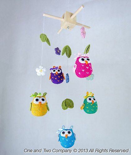 Great for a babys room! http://www.ravelry.com/patterns/library/owls-and-flowers-mobile